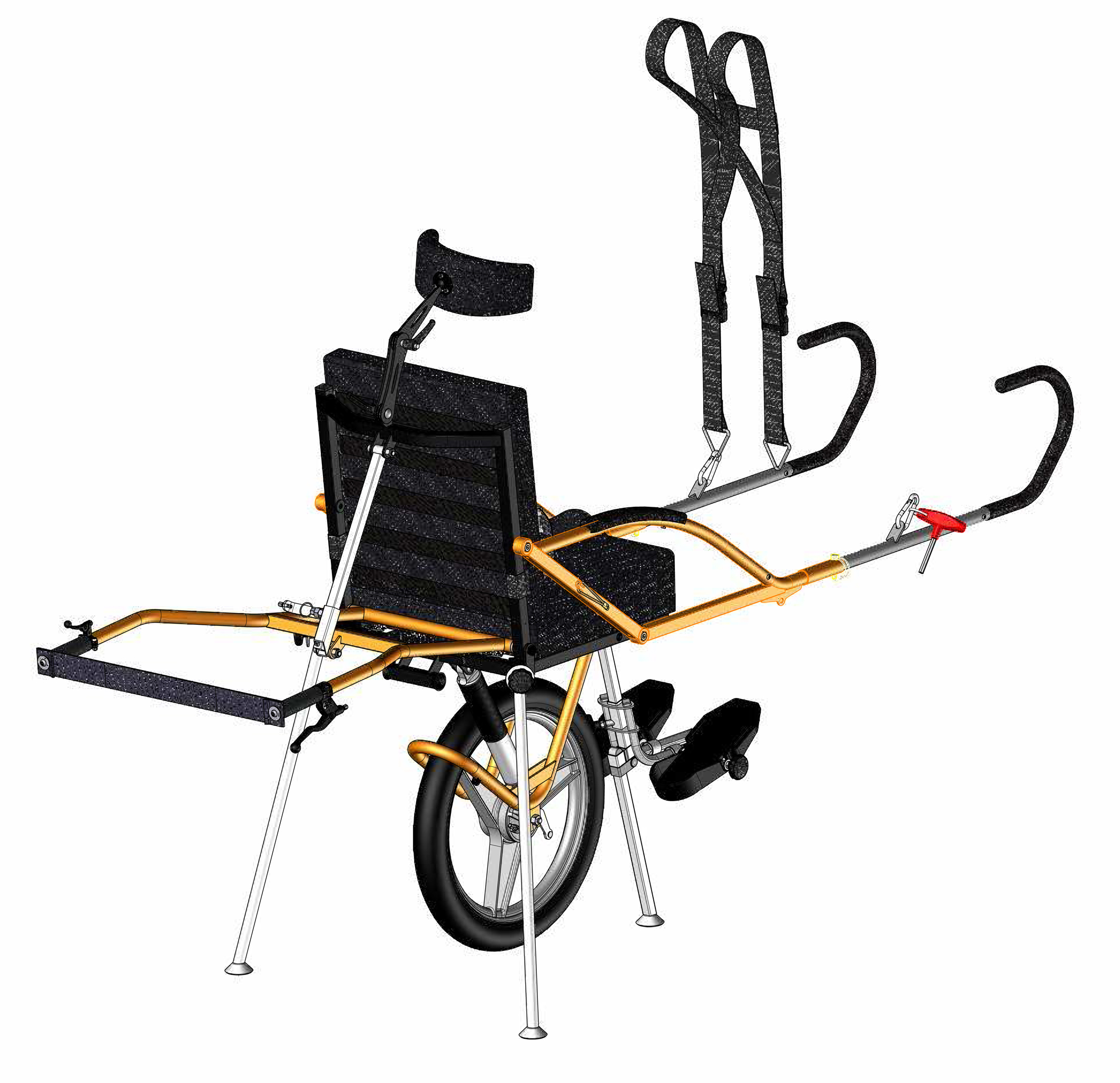 The jo 235 lette outdoor trekking wheelchair